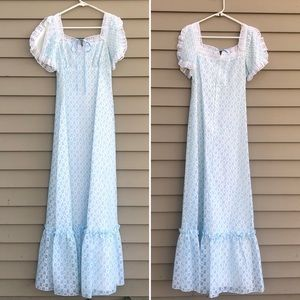 Vintage lace JC pennys prairie maxi dress 14